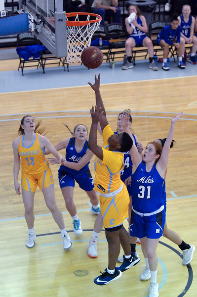 Joel Moline | The Sheridan Press<br /> Sheridan College's Cynthia Green (30) scores against Miles Community College Saturday, Dec. 7, 2019.
