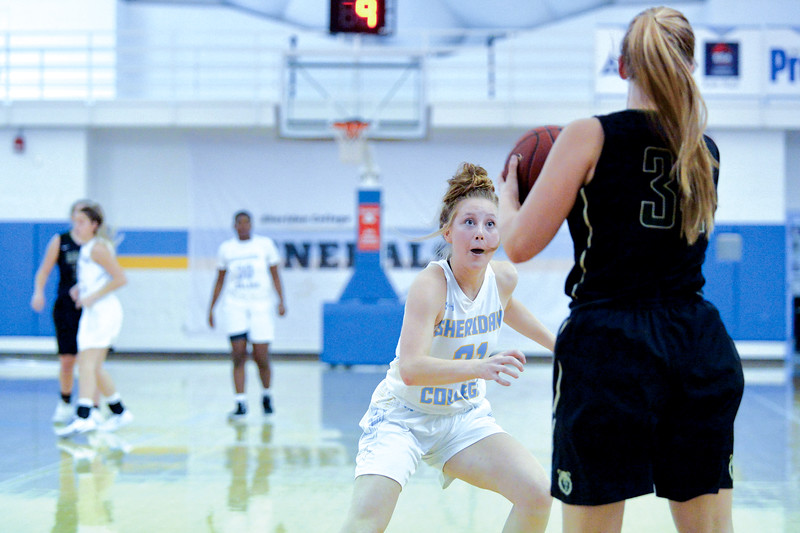 Joel Moline | The Sheridan Press<br /> Sheridan College's Shelby Tarter (31) plays defense against Rocky Mountain College Friday, Nov. 1, 2019.