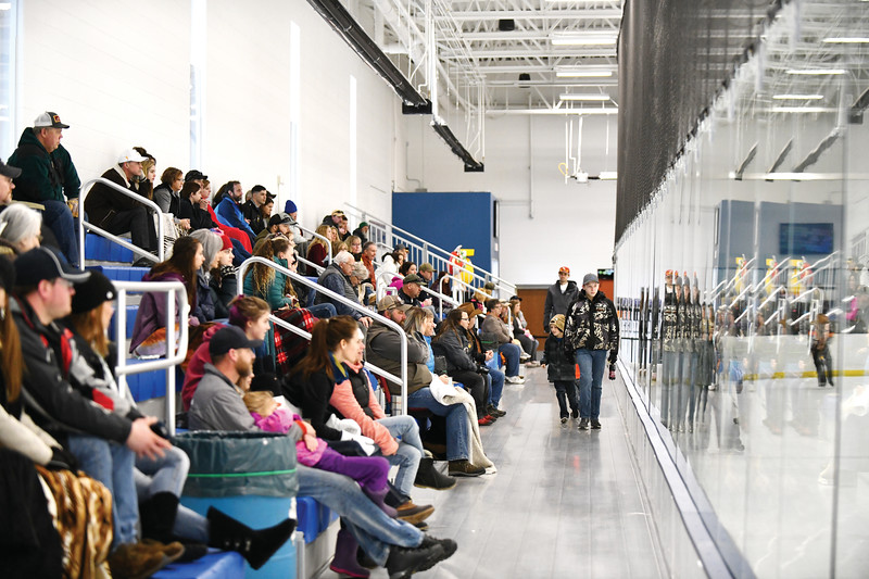 Matthew Gaston | The Sheridan Press<br>The stands at the M&M Center were packed to see the Sheridan Hawks square off against the Casper Oilers Saturday, Jan. 12, 2019.