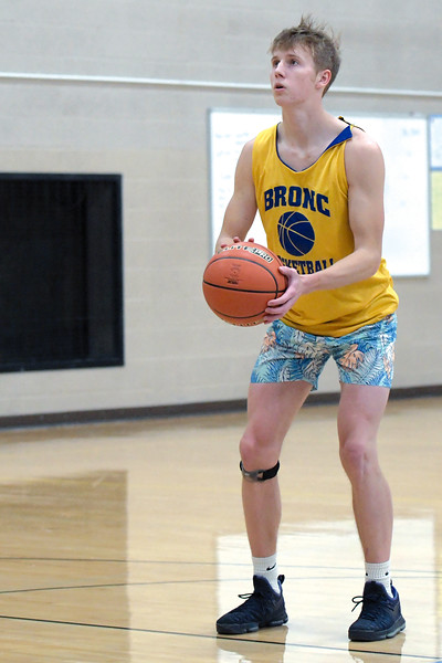Joel Moline | The Sheridan Press<br /> Conner Weatherby shoots a free throw during practice Monday, Nov. 25, 2019.