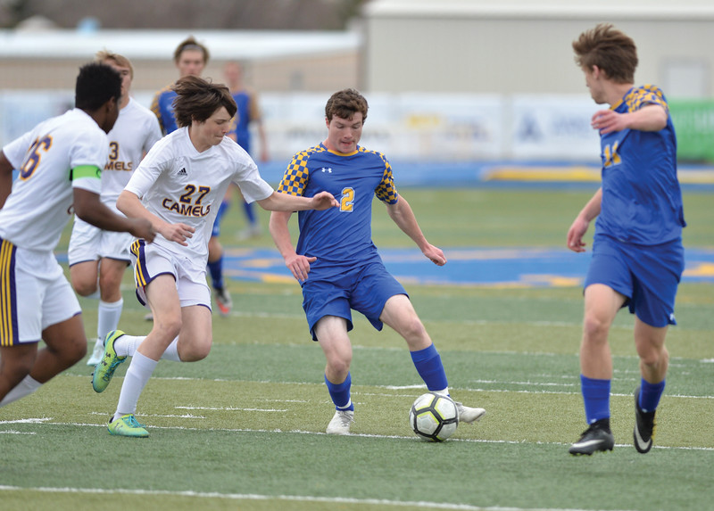 Bud Denega | The Sheridan Press<br /> Sheridan's Toby Jacobs looks to pass during a game against Campbell County at Homer Scott Field Saturday, April 6, 2019.