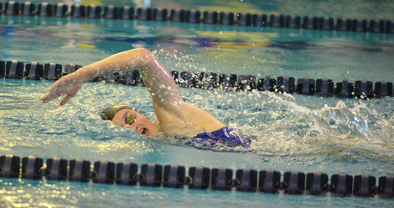 Bud Denega | The Sheridan Press<br /> Zoe Robison competes in the 200-meter individual medley during the Sheridan Pre-Invite at Sheridan Junior High Friday, Sept. 21, 2018.