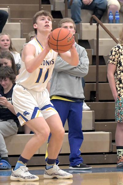 Joel Moline | The Sheridan Press<br /> Sheridan's Ethan Rickett (11) attempts a 3-pointer against Campbell County High School Friday, Feb. 21, 2020.