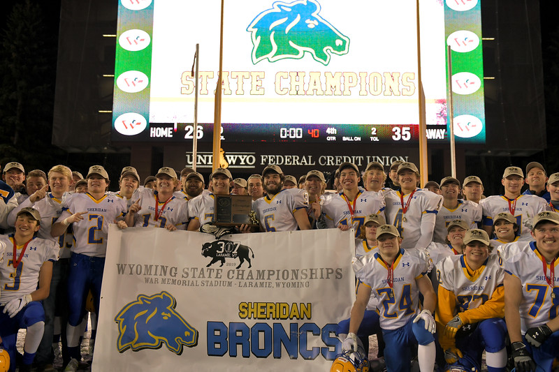 Matthew Gaston   The Sheridan Press<br>The Sheridan Press is proud to present your 2019 4A State Champions the Sheridan High School Broncs Saturday, Nov. 16, 2019.