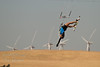 """Mechille doing a """"dead girl"""",  kiteboarding Sherman Island, CA<br /> <br /> 20100717-IMG_0319"""