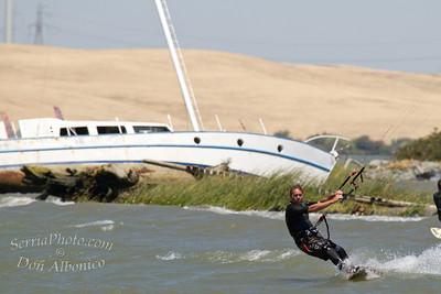 Kiteboarding Sherman Island 7-25-10