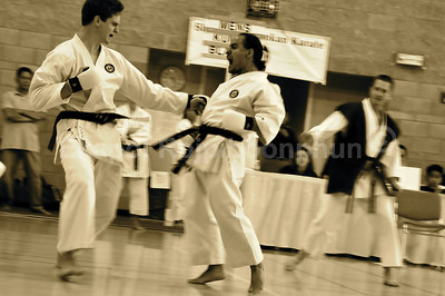The match was so intense. Can't believe they are really buddy buddy :)  Shinkyu Shotokan Karate Tournament, South San Francisco.
