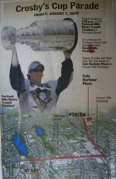 Crosby Cup Parade route