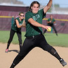 Niwot pitcher, Nickie Blue, throws against Silver Creek.<br /> Cliff Grassmick / September 2, 2010