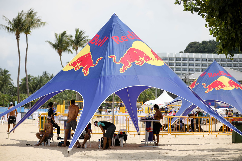Singapore Open FIVB Beach Volleyball World Tour 2018, Day -2, 22/06/2018, Qualifiers round, Red Bull facilities in place, at Siloso Beach, Sentosa, Singapore. (Photo by: Sanketa Anand/SportSG)