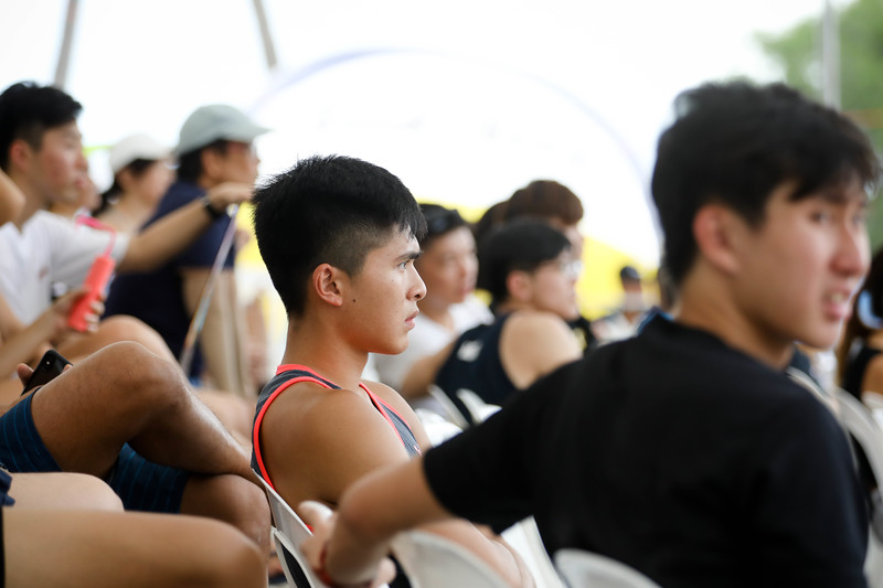Singapore Open FIVB Beach Volleyball World Tour 2018, Day -2, 22/06/2018, Qualifiers round, Audience supporting Singapore, at Siloso Beach, Sentosa, Singapore. (Photo by: Sanketa Anand/SportSG)