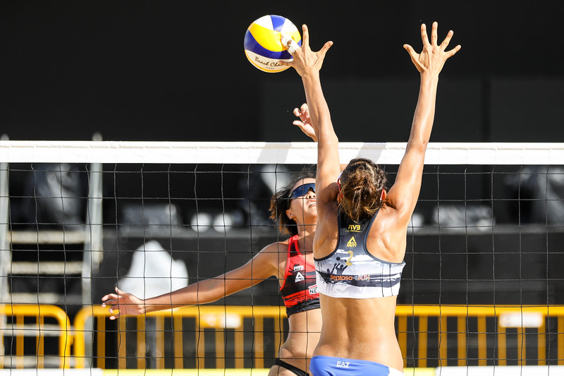 Singapore Open FIVB Beach Volleyball World Tour 2018, Day -2, 22/06/2018, Qualifiers round, Players in action at Siloso Beach, Sentosa, Singapore. (Photo by: Sanketa Anand/SportSG)