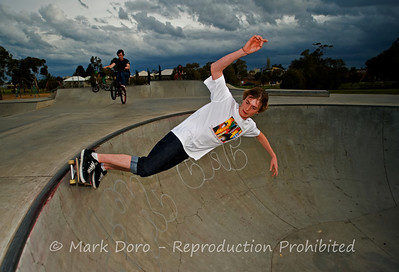 Approaching storm, bowl, Newport skate park