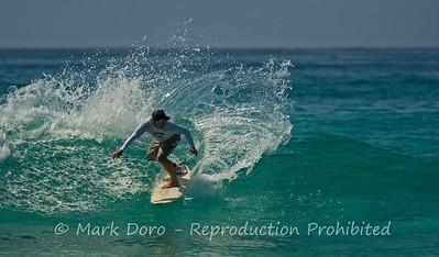 Long board carving, Boomerang Beach, NSW