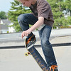 Tyler Sockwell, 12, of Fitchburg, at the Ryan C. Joubert Memorial Skate Park in Fitchburg on Tuesday afternoon. SENTINEL & ENTERPRISE / Ashley Green