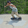 Jose Cuevas, 18, of Fitchburg, at the Ryan C. Joubert Memorial Skate Park in Fitchburg on Tuesday afternoon. SENTINEL & ENTERPRISE / Ashley Green