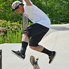 Miguel Flores, 18, of Lowell, at the Ryan C. Joubert Memorial Skate Park in Fitchburg on Tuesday afternoon. SENTINEL & ENTERPRISE / Ashley Green