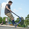 Nicholas Lopez, 12, of Fitchburg, at the Ryan C. Joubert Memorial Skate Park in Fitchburg on Tuesday afternoon. SENTINEL & ENTERPRISE / Ashley Green