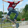 Tyler Stockwell, 12, of Fitchburg, performs a trick during the 10th Annual Skate Camp at Ryan C. Joubert Memorial Skate Park in Fitchburg on Monday afternoon. SENTINEL & ENTERPRISE / Ashley Green