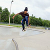 David Bufford, 15, practices some skateboarding moves at the Ryan C. Joubert Memorial Skate Park on Monday afternoon in Fitchburg. SENTINEL & ENTERPRISE/JOHN LOVE
