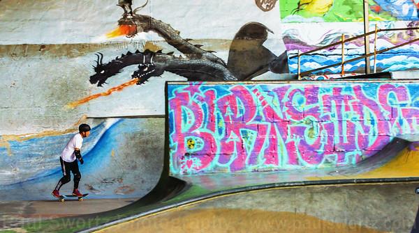 Chris Shreds Burnside Skate Park