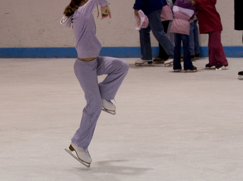 Is she skating or doing martial arts?