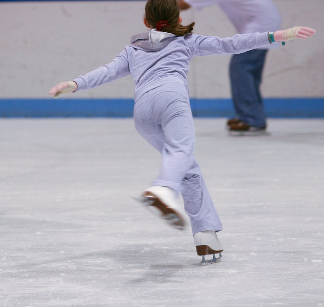 "My daughter started taking ice skating lessons in late summer, after drawing inspiration from movie ""Ice Princess."""