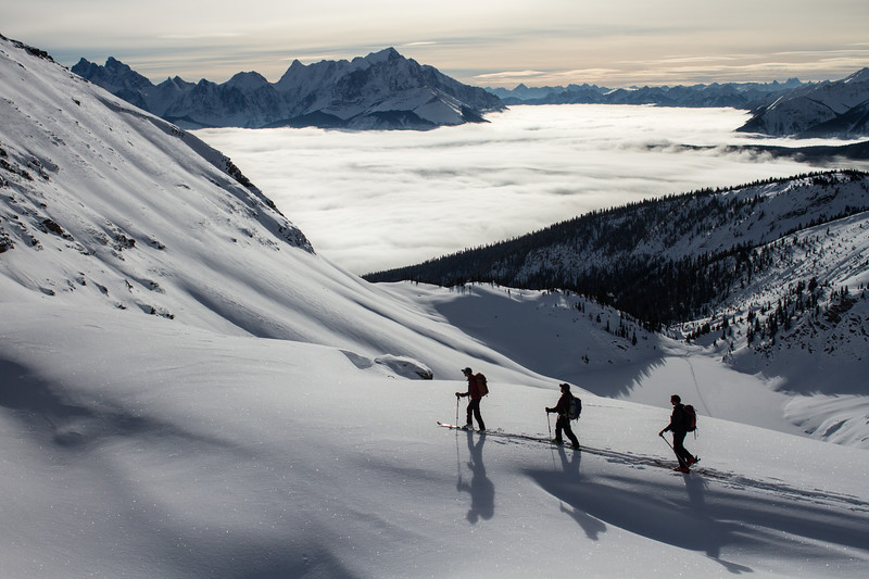 S. Adam Greenberg, Yuri Lortscher, John Acheson, Emerald Peak, Yoho National Park inversion