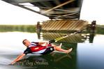 Sliding under the Hwy 4 Old River Bridge