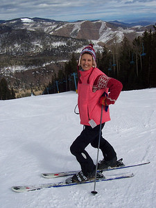 Caroline ready for her first run at Pajarito.