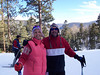 Our first ski trip since moving to New Mexico! Here we are near the top of Sipapu ski resort.