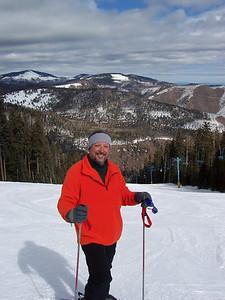 Chris takes a break at Pajarito Mountain in Los Alamos.