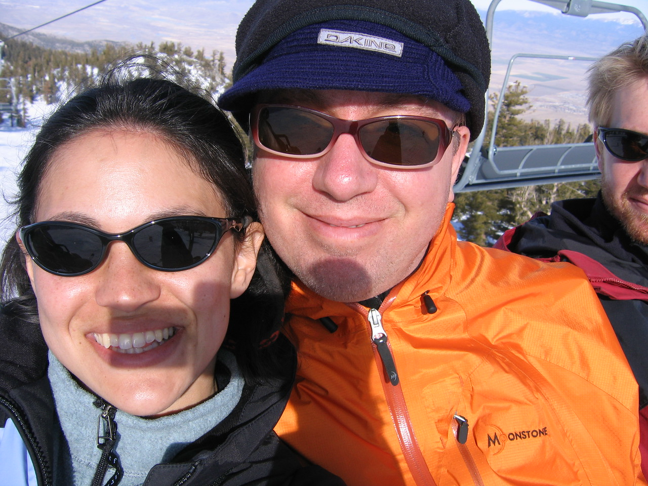 Me and Philip with a square shadow. Oops.