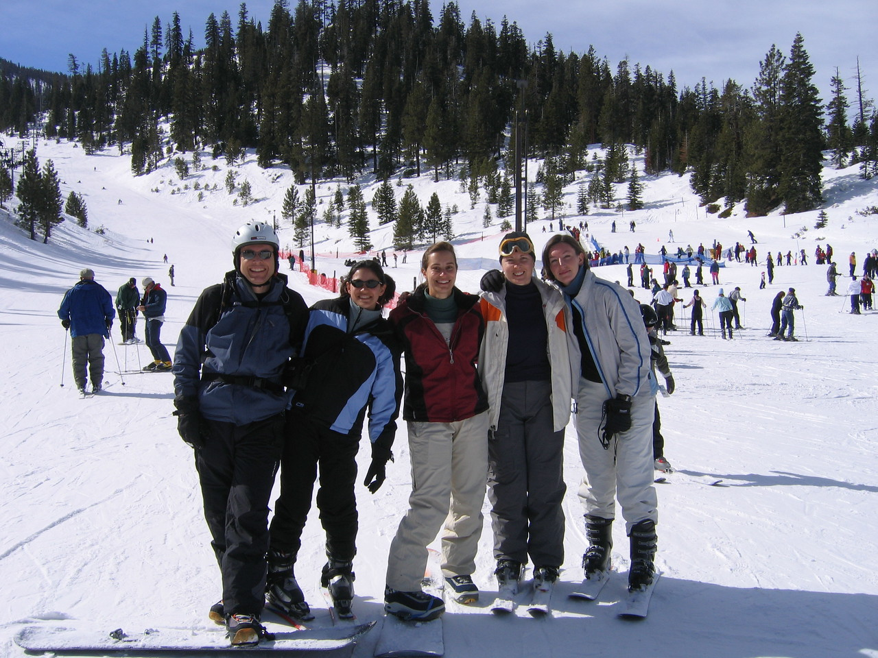 The gang, minus Becky. L-R: Eric, me, Birgit, Carrie, Linda.