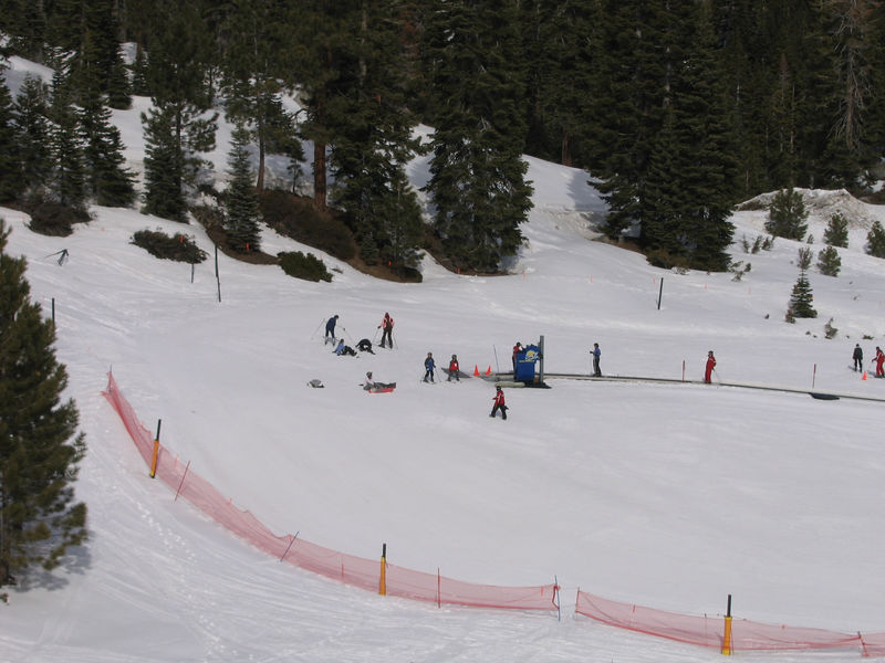 Aminat makes her way down the bunny slope.