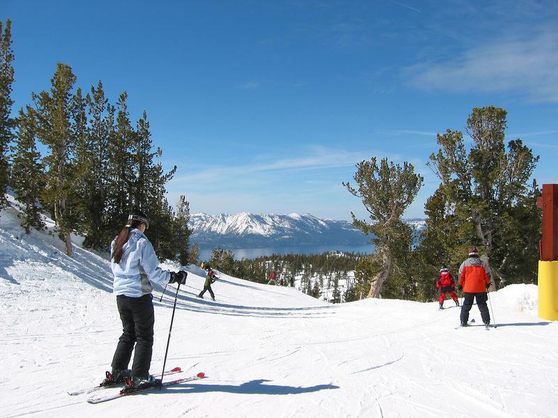 It was a tank top-video game kinda ski day.