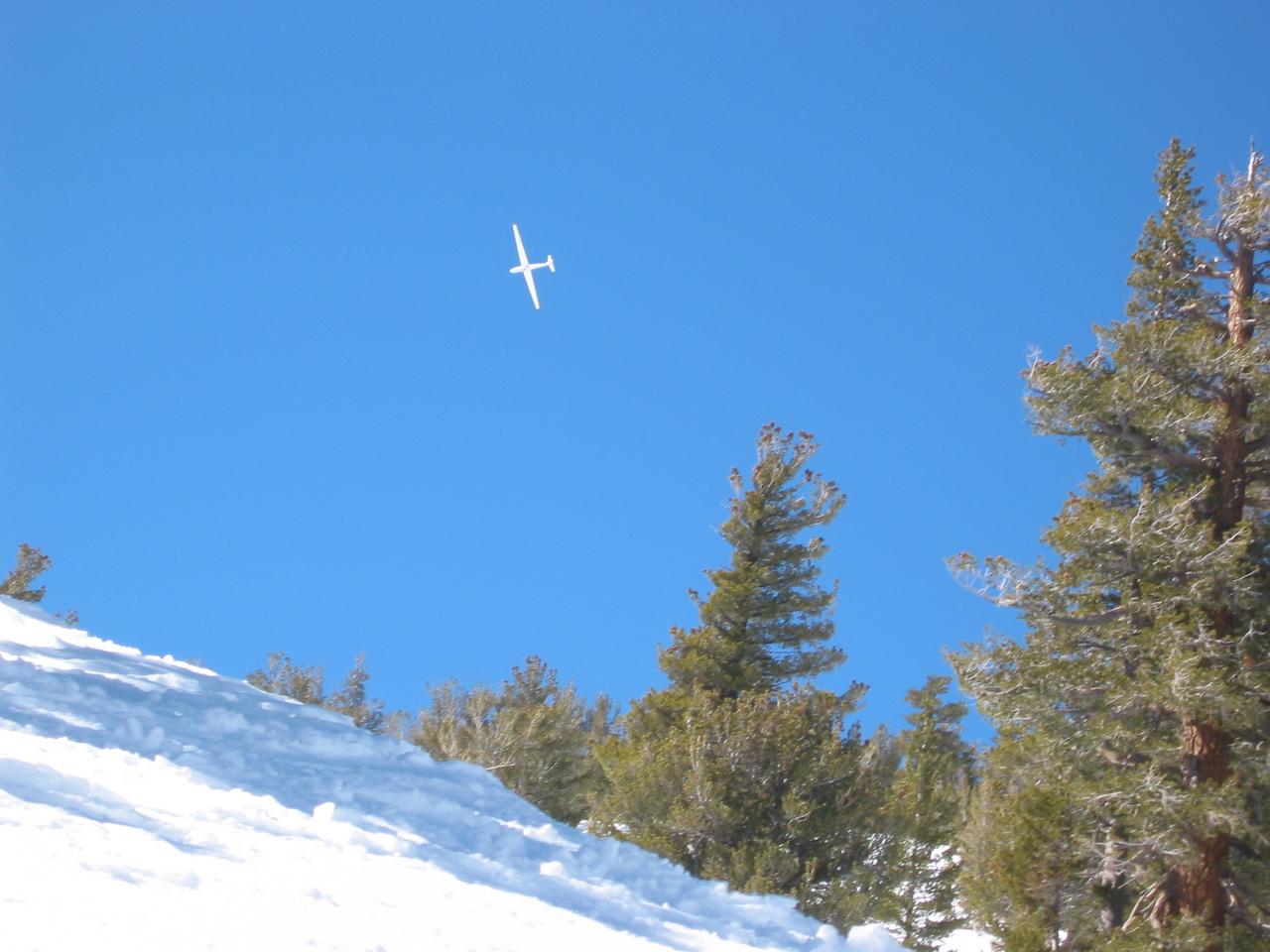 Glider, crashing. Well ok, maybe not.