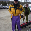 Sizing Max's reminder ski pants.