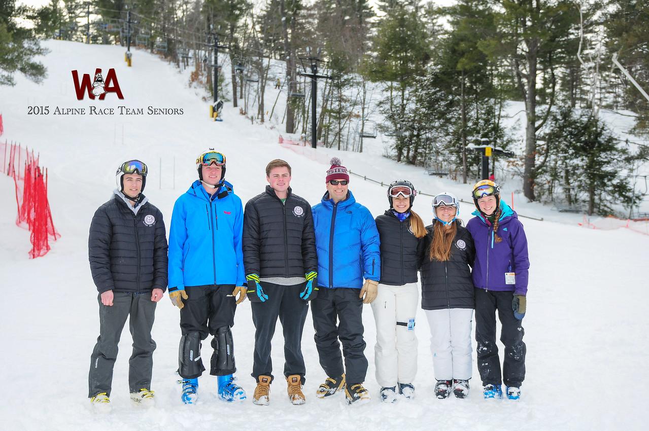 2015 Alpine Ski Team Seniors with logo