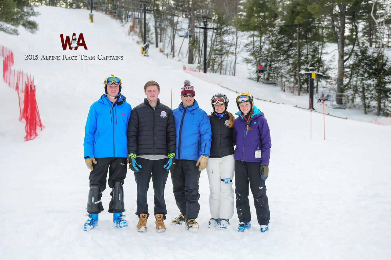2015 WA Ski Team Captains with logo