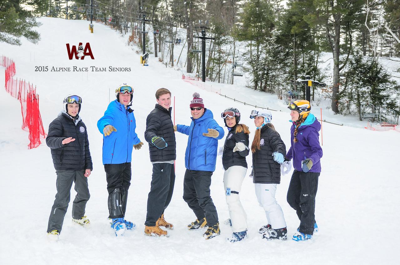 2015 WA Ski Team Seniors Silly with logo