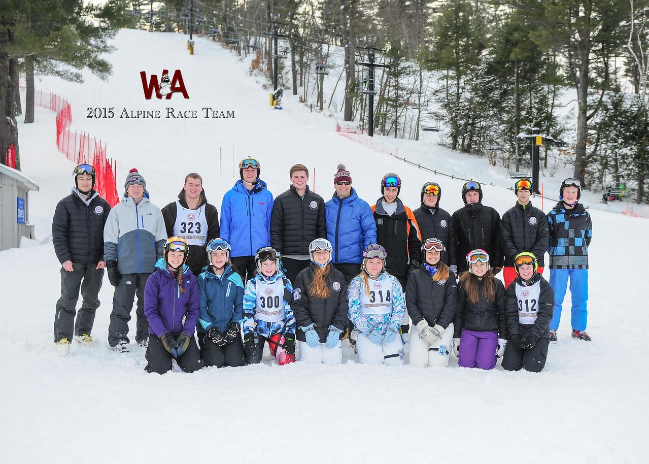 2015 WA Alpine Ski Team with logo