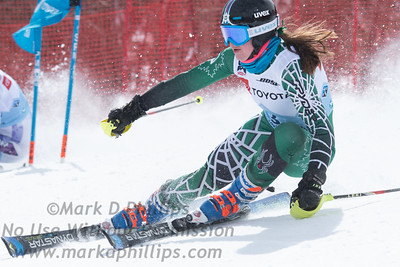 Alexa Dlouhy races parallel slalom at the US Nationals in Alpine Skiing at Waterville Valley, New Hampshire, on March 23, 2019.