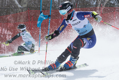 Lila Lapanja races in the parallel slalom at the US Nationals in Alpine Skiing at Waterville Valley, New Hampshire, on March 23, 2019.