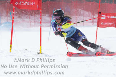 US Nationals in Alpine Skiing at Waterville Valley, New Hampshire, on March 23, 2019.