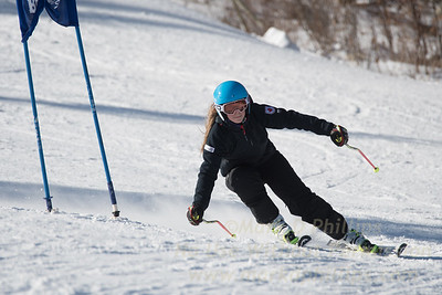 Liza Phillips during Family Challenge Race at Blandford Ski Area on February 4, 2017
