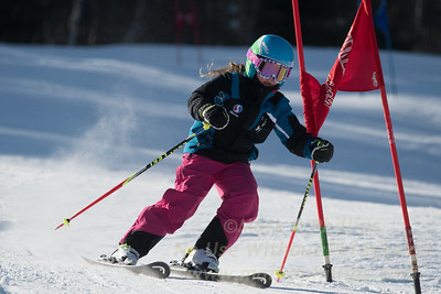 Briana Ottoson during Family Challenge Race at Blandford Ski Area on February 4, 2017