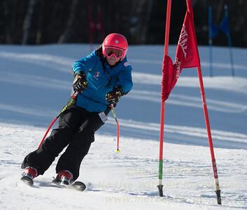 Gabe Wakelin during Family Challenge Race at Blandford Ski Area on February 4, 2017