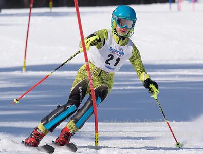 Addi Wakelin of Blandford skis in the U16 Slalom race on February 13, 2016.