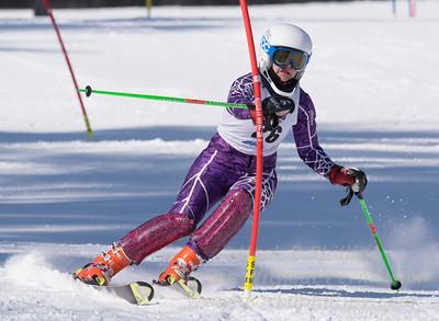 Anguelina Borisnko of Blandford skis in the U16 Slalom race on February 13, 2016.